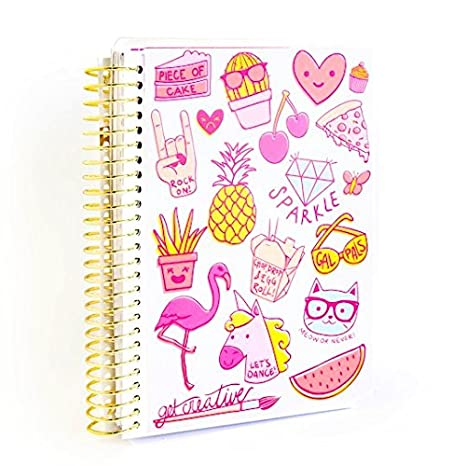 Amazon.com : Creative Year Neon Icons Mini Spiral Planner by ...