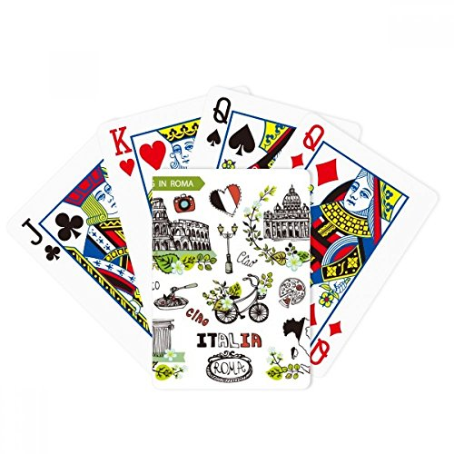 Spring Colosseum Roma Italy Graffiti Poker Playing Card Tabletop Board Game Gift by beatChong