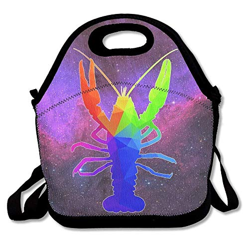 Lobster Diamond (Dozili Colorful Lattice Geometric Diamond Lobster Handy Large & Thick Neoprene Lunch Bags Insulated Lunch Tote Bags Cooler Warm Warm Pouch With Shoulder Strap For Women Teens Girls Kids Adults)