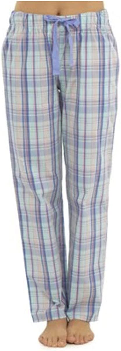 12 Pink Blue 14 16 18 Size UK 10 Ladies Girls Womens Check Flannel Design Pyjamas Lounge Bottoms Pants Trousers Nightwear