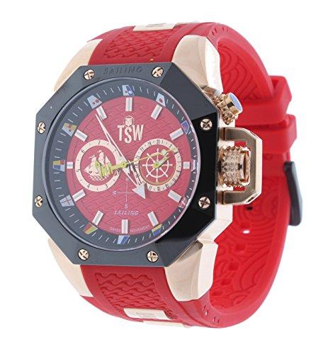 Technosport TS-100-SAIL5 Men's Watch Rose Gold/Red Sailing Swiss Day/Date Movement