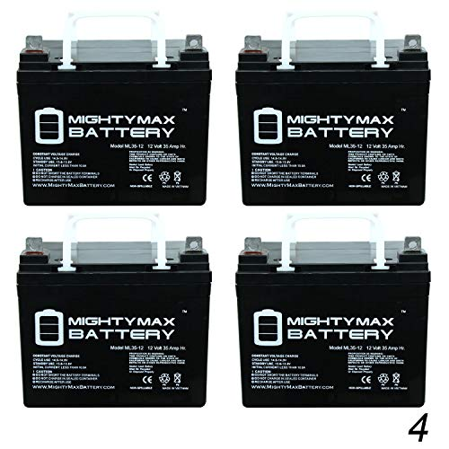 (Mighty Max Battery ML35-12 - 12V 35AH Compatible Wheelchair Battery for Pride Mobility Rally Scooter - 4 Pack Brand Product)