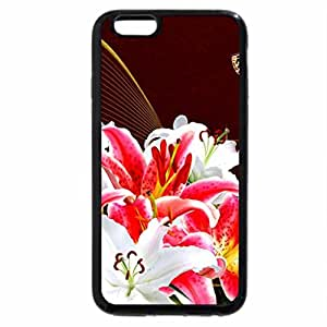 iPhone 6S / iPhone 6 Case (Black) Bright Lilies and Butterflies
