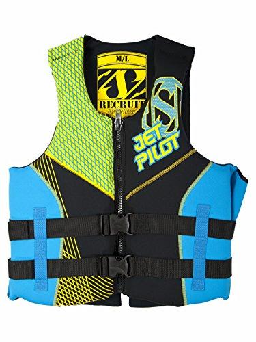 JetPilot Men's Recruit U.S. Coast Guard Approved PFD Vest, X-Small/Small, Yellow