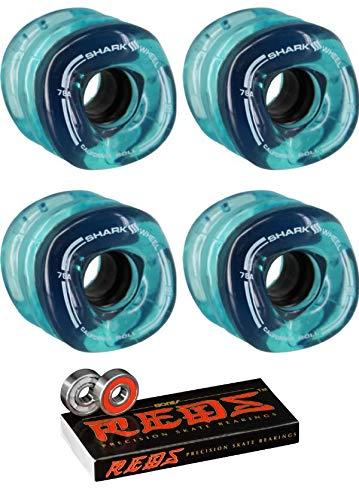 欲しいの Shark Wheels 60mm ブルー B07MW4PFQ7 カリフォルニアロール 透明 ブルー 60mm スケートボードホイール - 78a ボーンベアリング付き - 8mm ボーン レッド 精密スケートボードベアリング - 2個セット B07MW4PFQ7, なかよし屋 小豆島の美味見つけた:350b542e --- mvd.ee