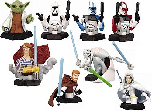 Star Wars Bust-Ups Series 7 - Clone Wars - set of 6