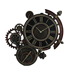 Veronese Design Mechanical Steampunk Astrolabe Star Tracker Wall Clock 17 Inch
