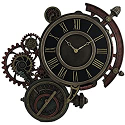 Zeckos Resin Wall Clocks Mechanical Steampunk Astrolabe Star Tracker Wall Clock 17 Inch 17.5 X 17 X 1 Inches Bronze