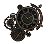 Zeckos Resin Wall Clocks Mechanical Steampunk Astrolabe Star Tracker Wall Clock 17 Inch 17.5 X 17 X 1 Inches Bronze