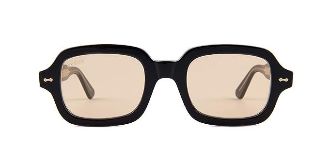6da6c16045b Amazon.com  Gucci GG0072S Sunglasses 002 Black   Orange Lens 52 mm ...