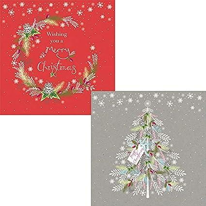 Help for Heroes – Pack de tarjetas de Navidad Festive Corona: Amazon.es: Oficina y papelería