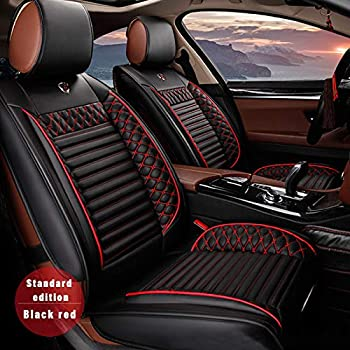 Super All Weather Custom Fit Seat Covers For Audi A3 S3 A4 S4 A6 S6 A7 S7 5 Seat Full Protection Waterproof Car Seat Covers Ultra Comfort Black Red Full Spiritservingveterans Wood Chair Design Ideas Spiritservingveteransorg
