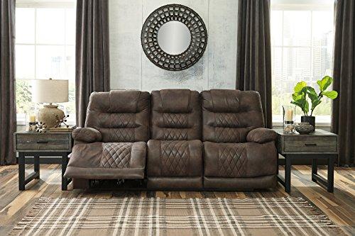 Signature Design by Ashley 5430315 Welsford Power Reclining Sofa Walnut