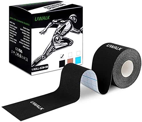 UWALK Kinesiology Tape, Elastic Therapeutic Sports Tape Uncut Cotton Athletic Tape Perfect for Pain Relief,Muscle Support and Injury Recovery,Waterproof,Breathable,Latex Free
