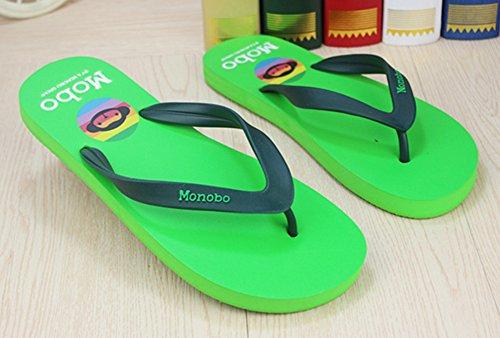 Sfnld Hombres Classic Open Toe Thong Chanclas Verano Sandalias De Playa Verde Hierba