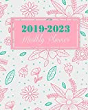 2019-2023 Monthly Planner: Pink Girl Floral