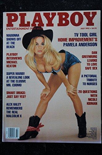 PLAYBOY US 1992 07 MADONNA SUPER MARIO TRIBUTE TO NURSES DAN GREENBURG Amanda Hope Pamela Anderson Michael Keaton