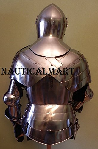 Knight Suit of Armor Breastplate with Helmet Medieval Armor Authentic Costume by NAUTICALMART (Image #2)
