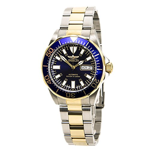 Invicta Men's 7046 Signature Collection Pro Diver Two-Tone Automatic (Invicta Crystal Wrist Watch)