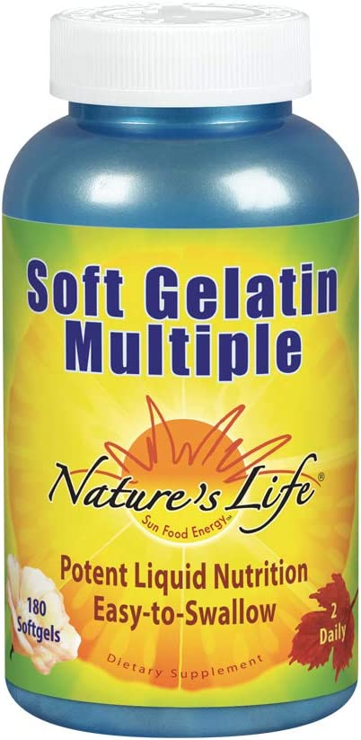 Nature s Life Soft Gelatin Multiple , 180 Softgels