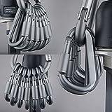 Secologo 6pcs/Outdoor Travel Kit Camping Alloy Aluminum Survival Gear D Type Hook EDC Carabiners Gadgets