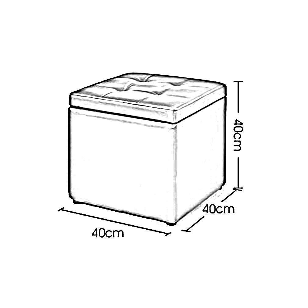 Colore: A KDJB/&DM Pouf Contenitore Pieghevole in Ecopelle pu/ò Essere riposto poggiapiedi HENGXIAO