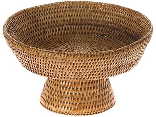 Honey Rattan (KOUBOO La Jolla Pedestal Rattan Fruit Bowl, Honey Brown)