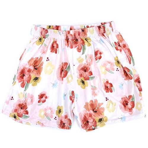 案件参加者まもなくレディース ルームパンツ 3分丈 ポケット付き 花柄ショートパンツ 5デザイン M-L L-LL