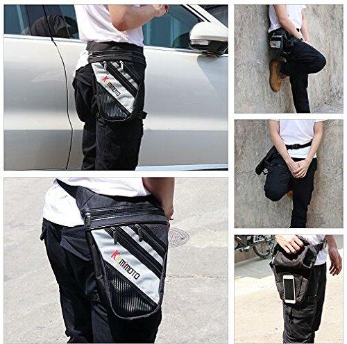 KEMIMOTO Leg Bags Motorcycle Rider Waist Bag Storage Pack