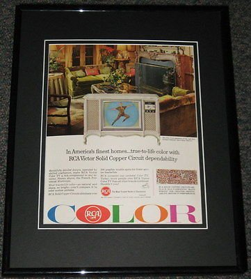 RCA Television TV 1965 Framed Promotional Advertisement Photo 11x14 Mary Martin