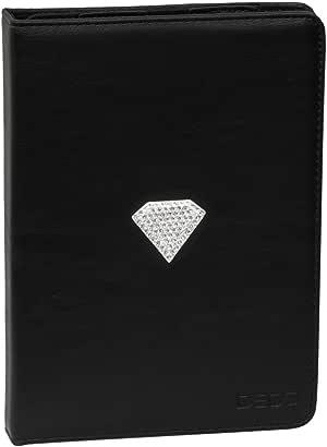 Deos iPad Air portfolio Red PU w Crystal Diamond Shape - Black