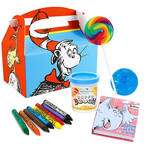 BirthdayExpress Dr. Seuss Party Supplies Deluxe Filled Favor Boxes (8)