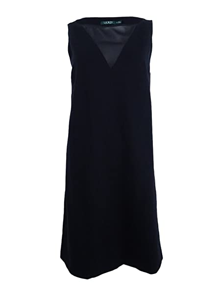 64accb83d34 Image Unavailable. Image not available for. Color  Lauren by Ralph Lauren  Women Small Illusion Sheath Dress Black S