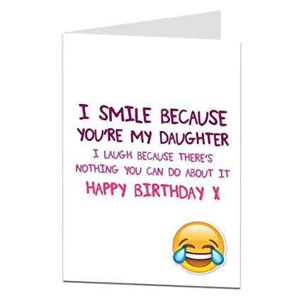 Funny Daughter Birthday Cards Perfect For 18th 21st 30th 40th 50th Cool Quirky Design Blank Inside