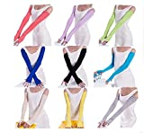 ZJY Summer driving uv cycling half refers to the long thin sunscreen glove cuff shade hand arm set of outdoor sports 9 pair