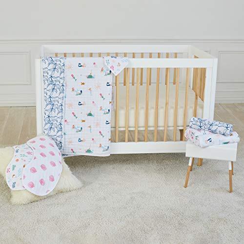 aden + anais Dream Blanket, Boutique Muslin Baby Blankets for Girls & Boys, Ideal Lightweight Newborn Nursery & Crib Blanket, Unisex Toddler & Infant Bedding, Shower & Registry Gift, Mermaids