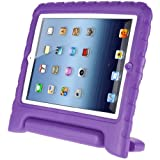 Afranker Ipad 2/3/4 Shockproof Case Light Weight Kids Case Super Protection Cover Handle Stand Case for Kids Children for Ipad 2/3/4 Purple