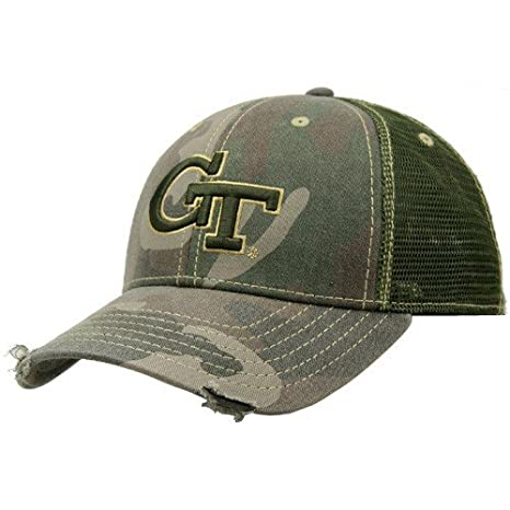 brand new 8f799 31cde Image Unavailable. Image not available for. Color  Georgia Tech Yellow  Jackets Camo Mesh Deliverance Hat