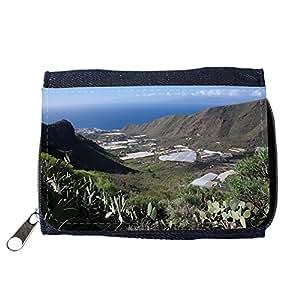 le portefeuille de grands luxe femmes avec beaucoup de compartiments // M00243150 Valle Montañas Naturaleza Cliff // Purse Wallet
