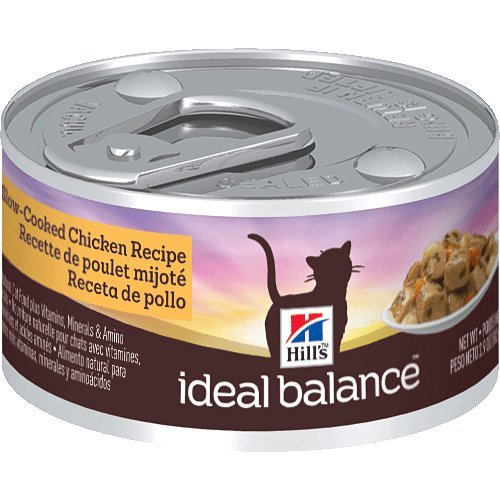 Hill's Ideal Balance Slow-Cooked Chicken Recipe 24-Pack Cat Food Can, 2.9-Ounce, My Pet Supplies