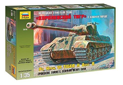 (GSI Creos (GSI Creos) Zvezda 1/35 German King Tiger Porsche turret-type heavy tank Plastic ZV3616)