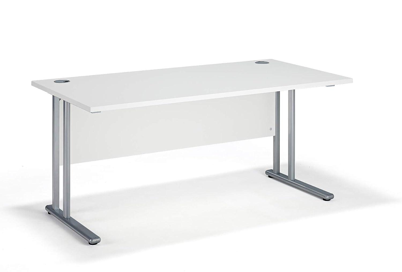 White Cantilever Office Desks