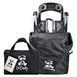 Isibaby Carseat Stroller Travel Bag - Standard or Double or Umbrella Running Stroller - Large Black Bags - Airplane Gate Check Traveling and Cover Storage - XL or XXL