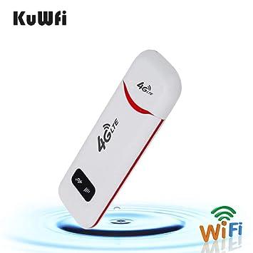 Amazon.com: KuWFi 4G LTE Móvil WiFi Hotspot USB Dongle ...