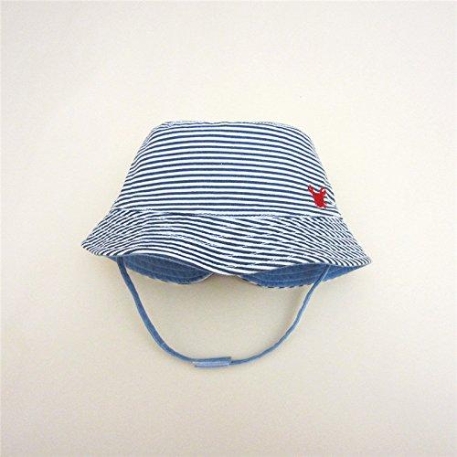 Fancyland B/éb/é Enfant Chapeau de Soleil Plage Animaux Bob Anti-UV Solaire Outdoor pur Coton Crabe