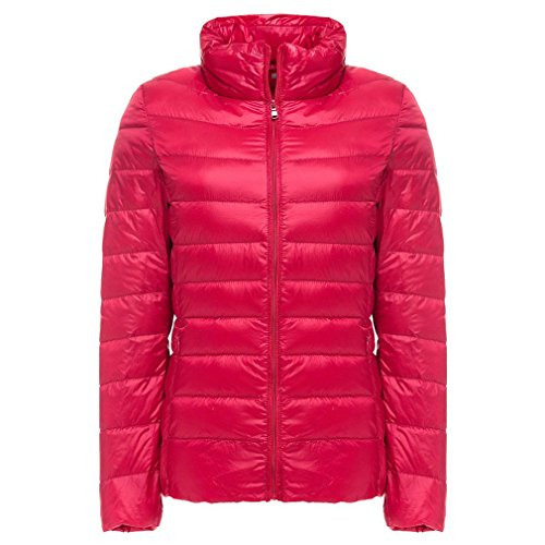 Rosso Antivento Da Packas Hangyin Caldo Ultra Leggero Piumino Light Inverno Cappotto Donna Autunno 6wvAH