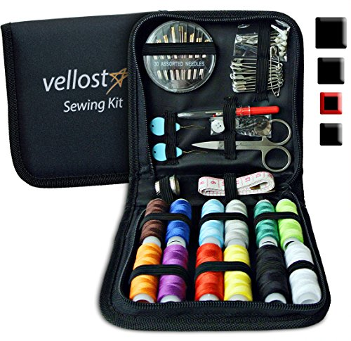 Sewing KIT - Deluxe Pack for Emergency Clothing Repairs. Highly Rated Medium Mending Sew Storage Set for Kids & Adults | Beginner Mini Travel Kits w/Improved Threads & Needles Supplies (Basic Starter Kit)