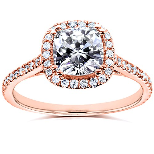 Sterling serties de diamant et en or 9carats 11/3carat (ctw) dans 14K Or Rose _ 4.0