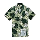 Men Hawaiian Shirt in Green Floral