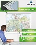Organisationskarte Norddeutschland, 1:500 000, folienbeschichtet, inkl. Metallbeleistung